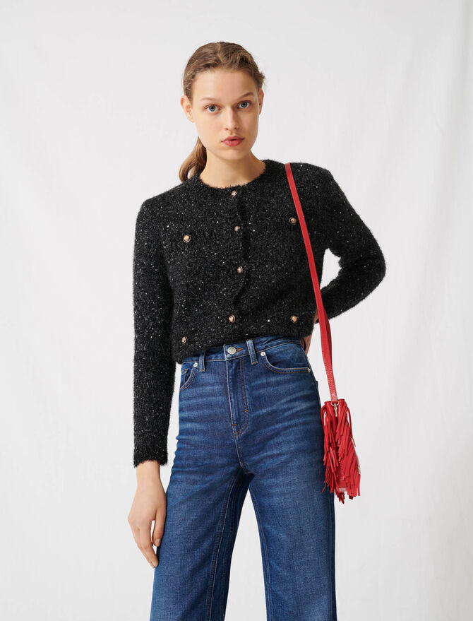 High-waisted wide-leg jeans - Trousers & Jeans - MAJE