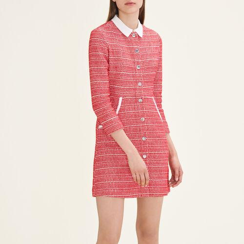 Jacquard dress : Dresses color Red