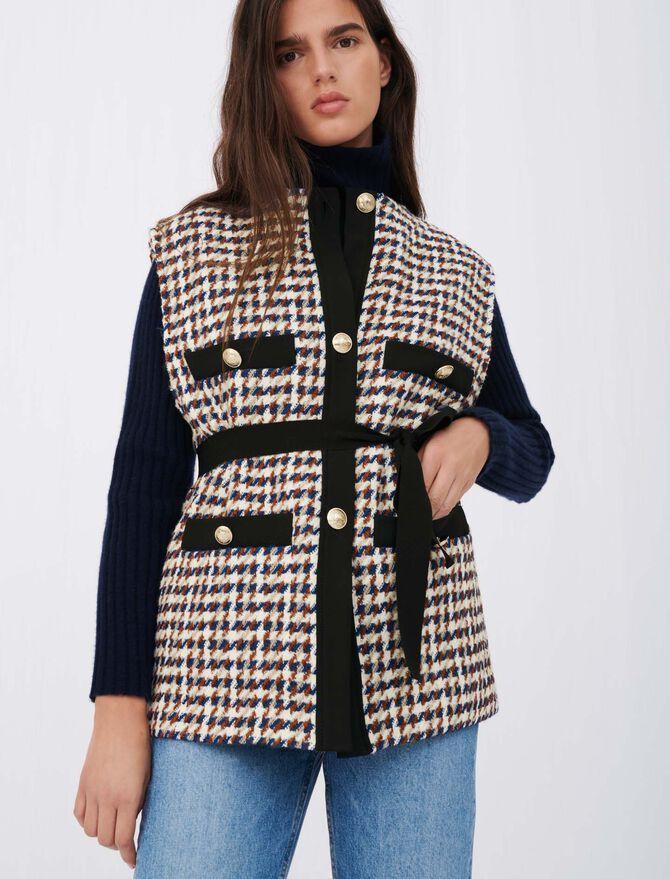 Tweed-style cardigan-inspired jacket - Pullovers & Cardigans - MAJE