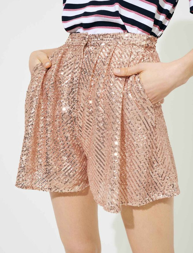 Sequinned shorts - Skirts & Shorts - MAJE