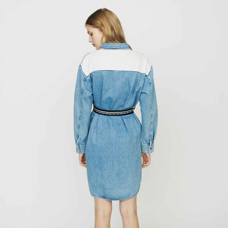 Denim shirt dress : Dresses color Denim