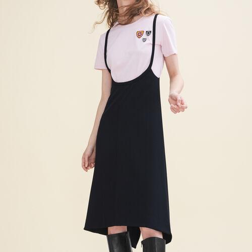 Short strappy dress : Dresses color Black 210