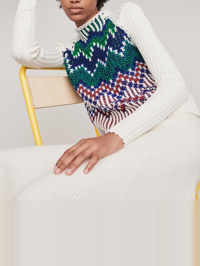 Sweater with fancy motifs -  - MAJE