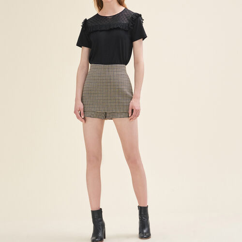 Short checked shorts : Skirts & Shorts color Jacquard