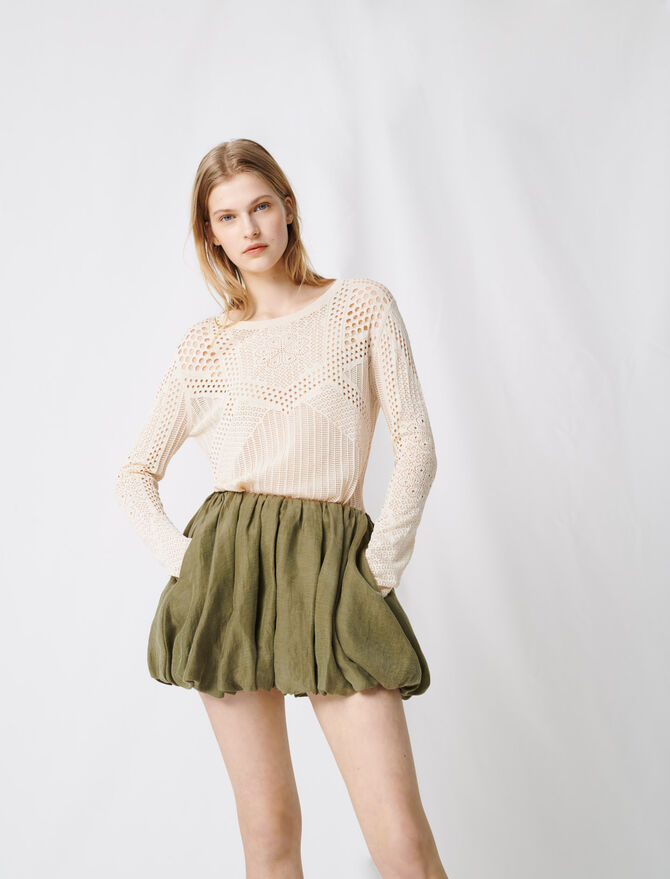 Draped mini skirt -  - MAJE