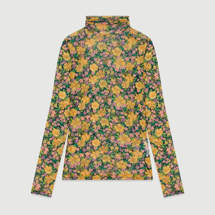 Printed T-shirt with round collar : T-Shirts color Yellow