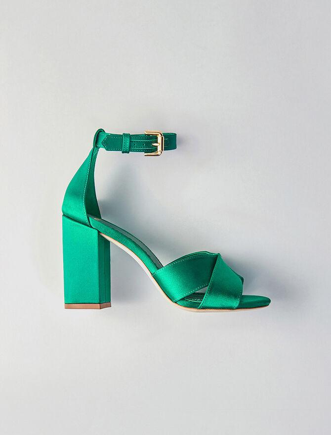 Heeled satin sandals - All Shoes - MAJE