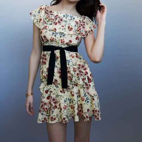 Silk printed dress : Dresses color PRINTED