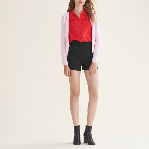 Cardigan with zips on the sides : Sweaters & Cardigans color Black 210