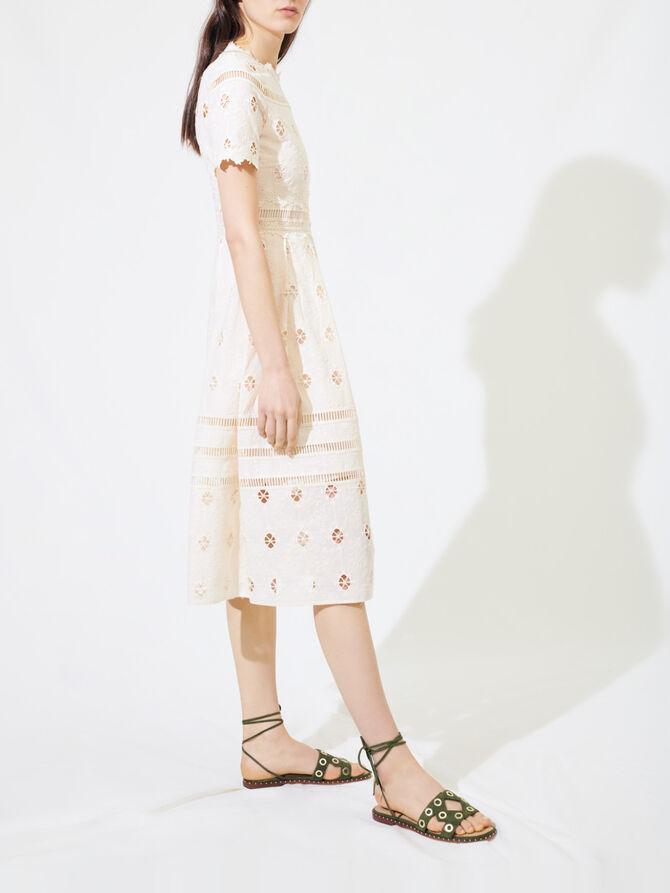 Guipure maxi dress with trim - Dresses - MAJE