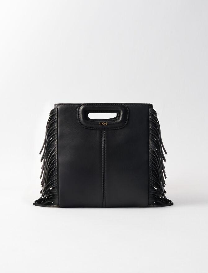 Mini leather M bag with chain - M Mini - MAJE