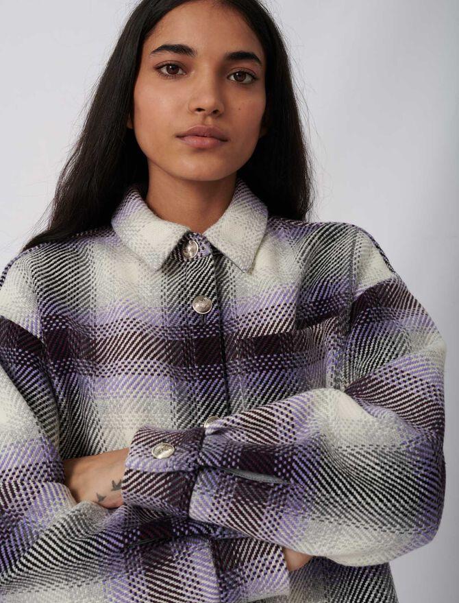 Checked overshirt-style jacket - Eco-friendly - MAJE