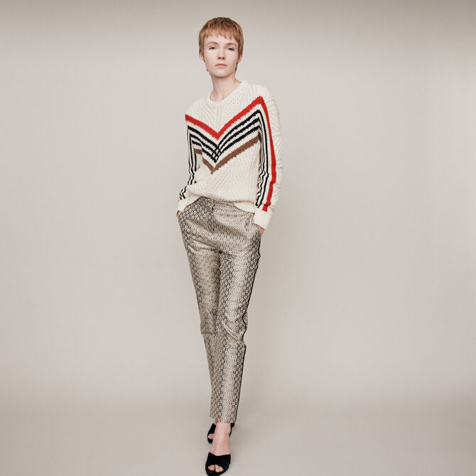 Twisted sweater with graphic motifs - staff private sale 20 - MAJE