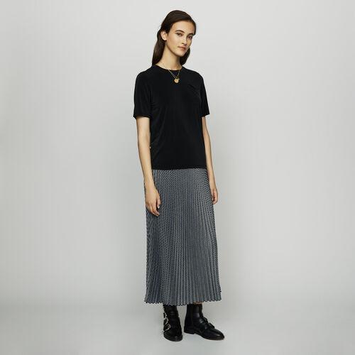 Cupro T-shirt : T-Shirts color Black 210
