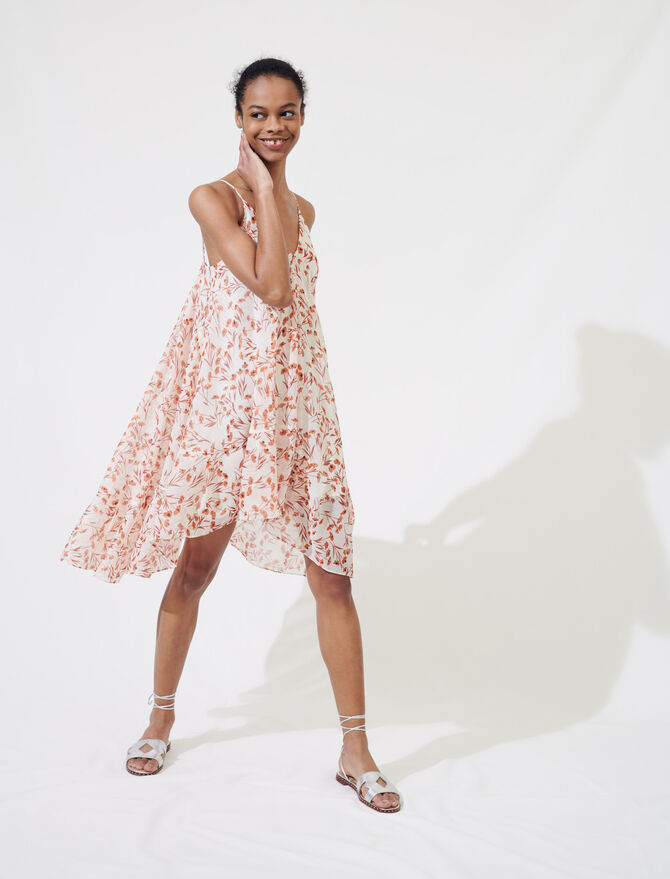 Printed dress with thin straps - Dresses - MAJE