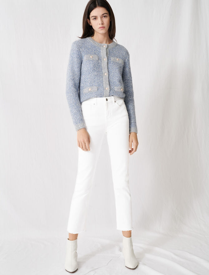 White straight-cut jeans - Trousers & Jeans - MAJE