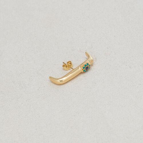 "Earring ""Eye"" : Jewelry color GOLD"