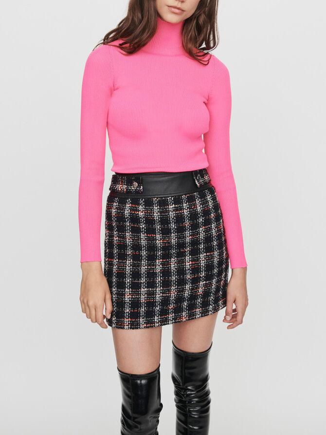 Light ribbed turtleneck sweater - -30% - MAJE