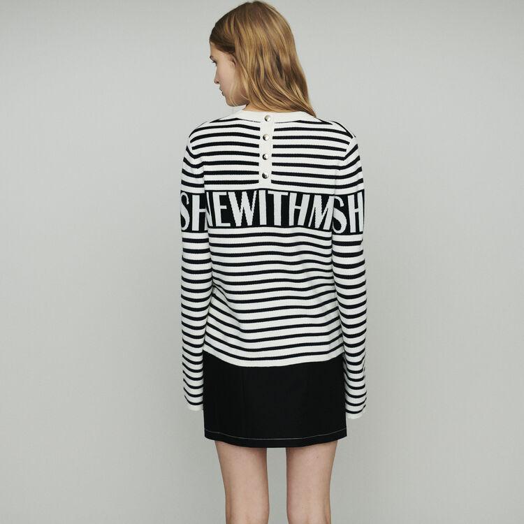 Striped sailor sweater : Pullovers & Cardigans color Ecru