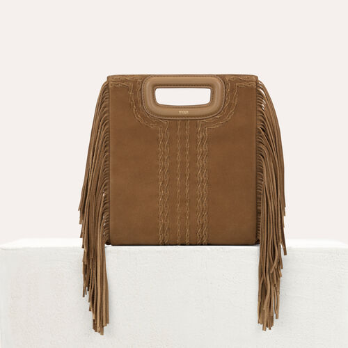 M bag in braided suede : M bag color Camel