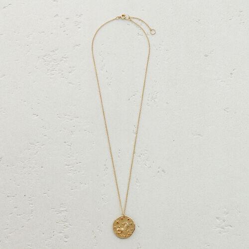 Capricorn zodiac sign necklace : Medallions color GOLD