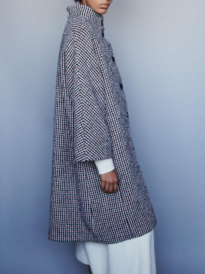 Long wool houndstooth coat - Jackets & Blazers - MAJE