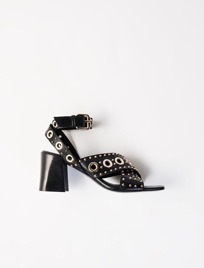 Heeled studded sandals -  - MAJE
