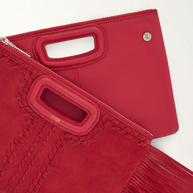Suede pocket : M Duo color Red