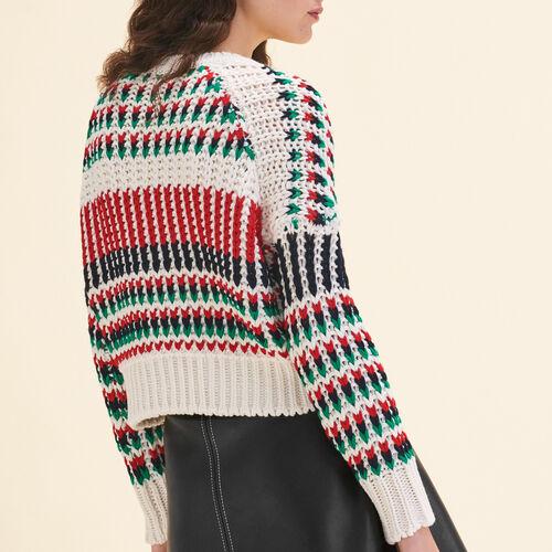 Decorative multi-coloured knit jumper : Knitwear color Multico