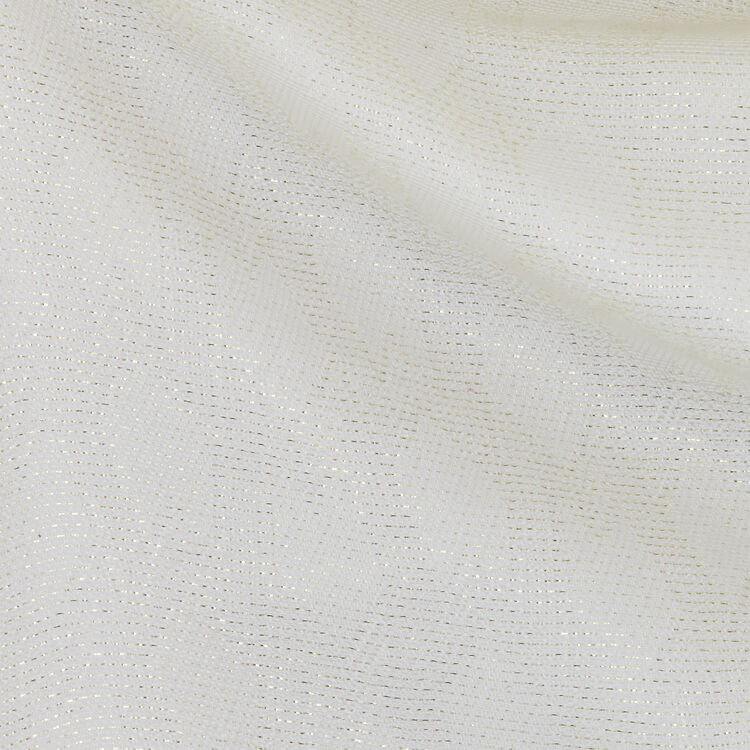 Shawl in M motif in Lurex : Shawls & Ponchos color Off White