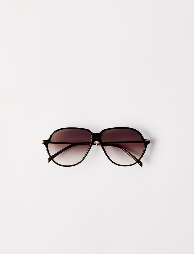 Acetate aviator sunglasses -  - MAJE