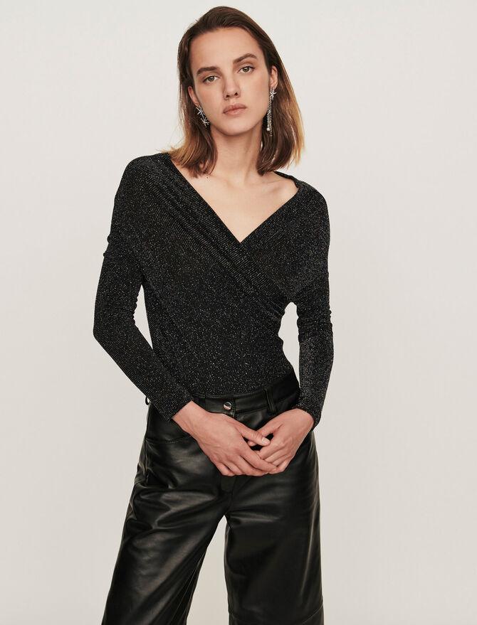 Body manches longues en jersey Lurex - Pap_Tshirts - MAJE