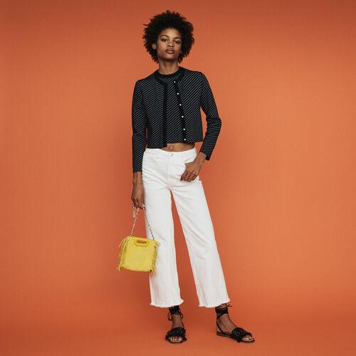 Cardigan court à rayures : Pap_Pulls-Cardigans couleur Rayure