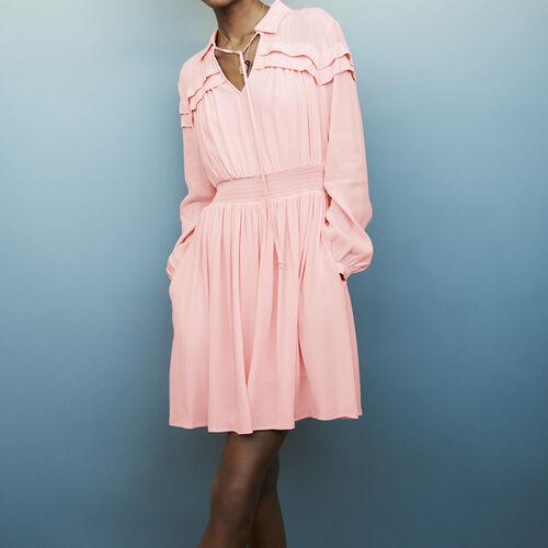 Shirt collar blouse : Dresses color PURPLE