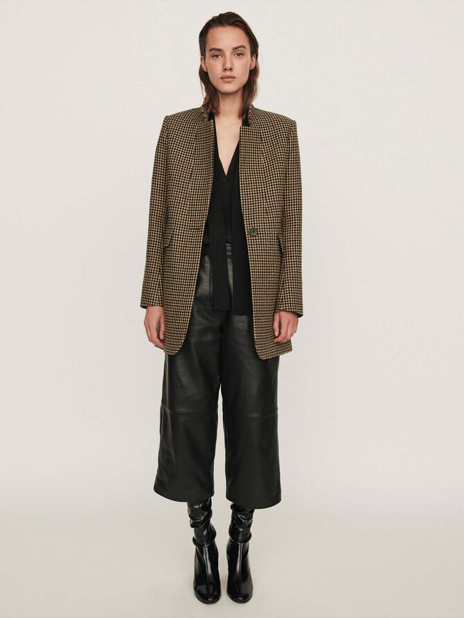 Plaid coat -  - MAJE