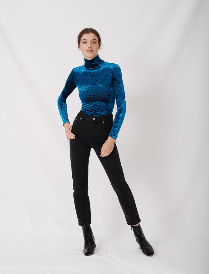 Mom-style high-waisted straight jeans -  - MAJE