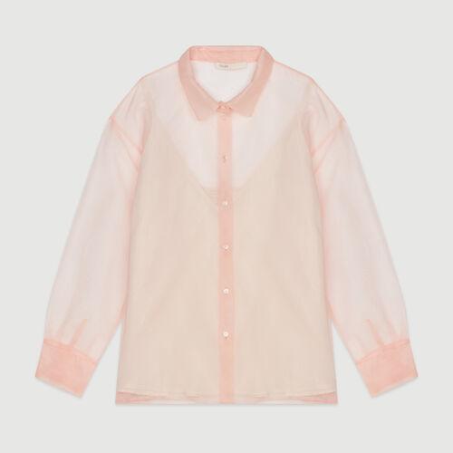 Chemise façon organza : Pap_Tops-Chemises couleur Mandarine