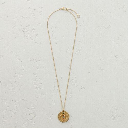 Scorpio zodiac sign necklace : Medallions color GOLD