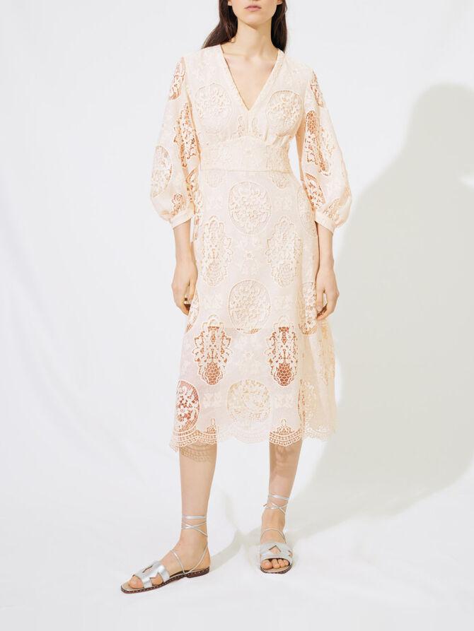 Low-cut guipure dress - Dresses - MAJE