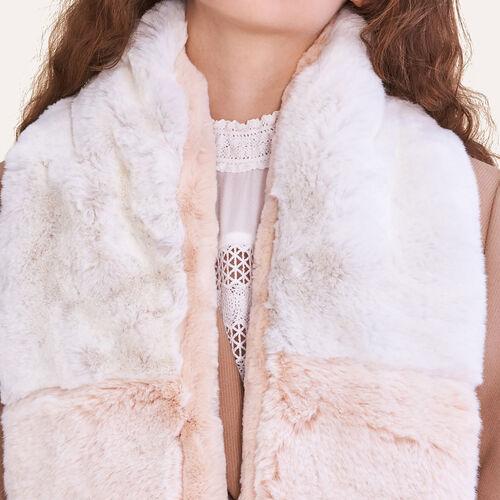 Two-tone faux fur scarf : Accessoires color Two-Tone