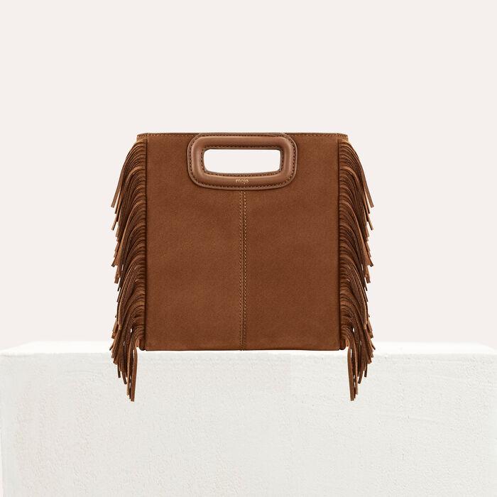 M bag with suede fringes : M bag color Camel