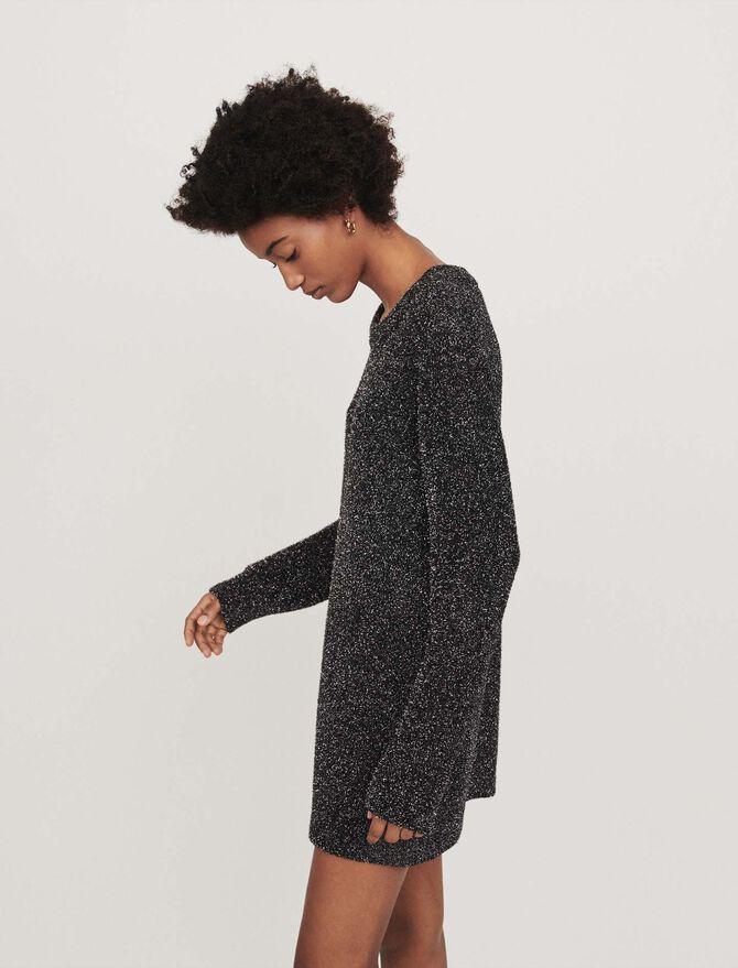 Lurex knit dress -  - MAJE