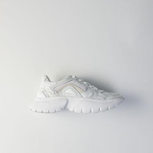 Sneakers W20 urbaines en cuir : Chaussures_Sneakers couleur Blanc