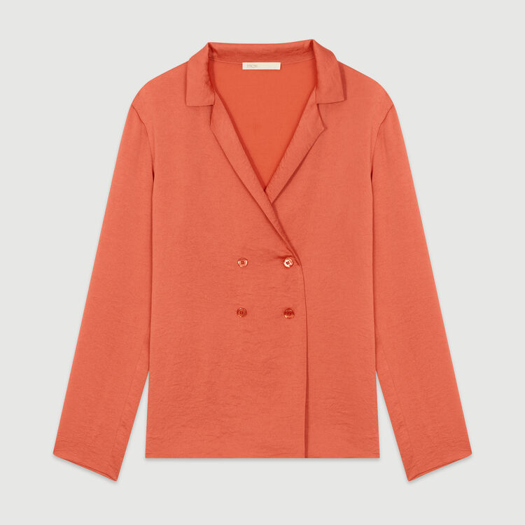 Blazer-style blouse : Shirts color Coral