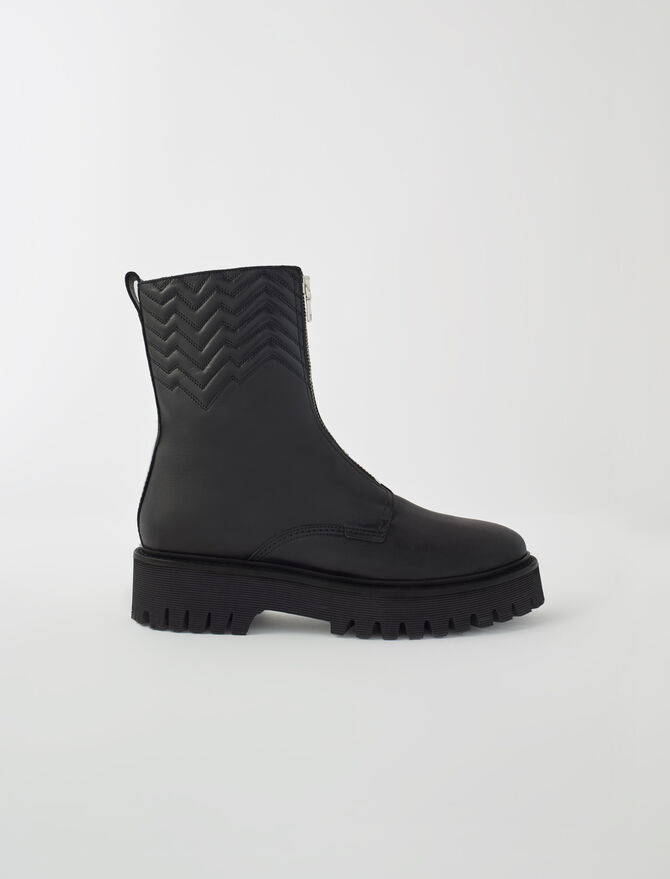 Quilted boots with zip - Warm up - MAJE