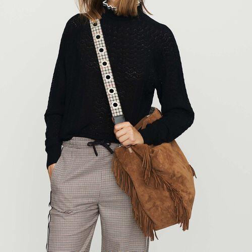 Removable leather shoulder strap : See all color Beige