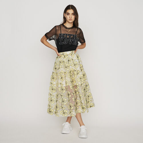 Organza skirt with flowers : New in : Summer Collection color Yellow