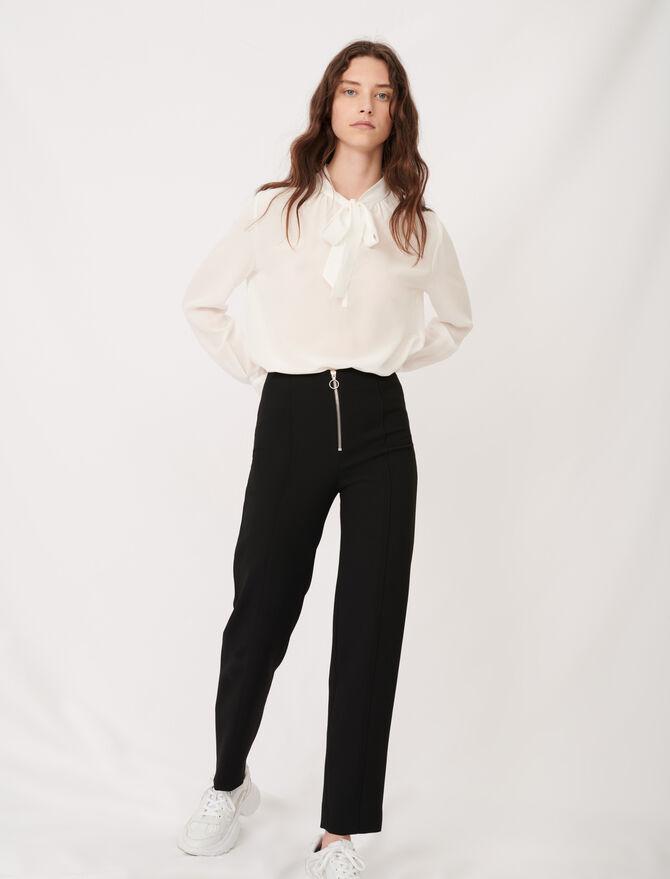 Pantalon droit zippé - Pap_Pantalons-Jeans - MAJE