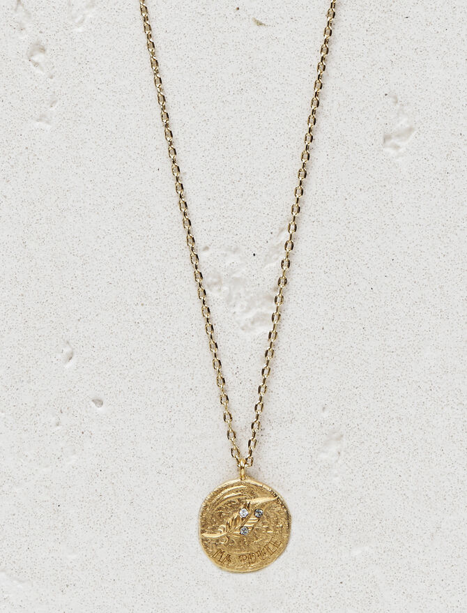 """Necklace with medallion """"Ma poule"""" - Jewelry - MAJE"""