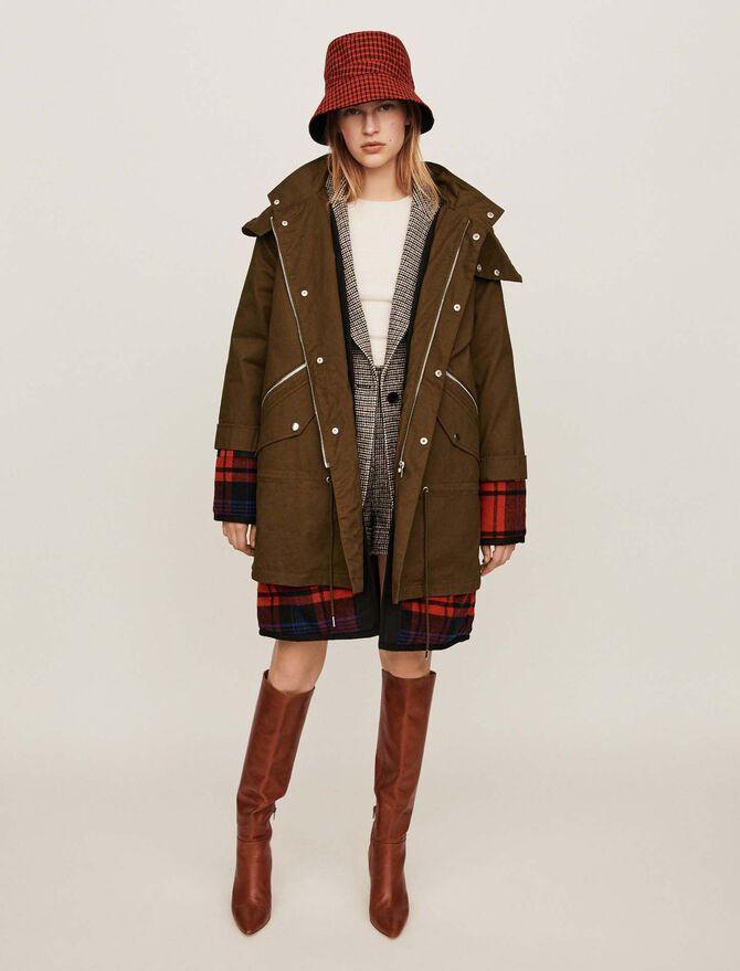 Trompe-l'oeil parka with oversized hood - Jackets & Blazers - MAJE